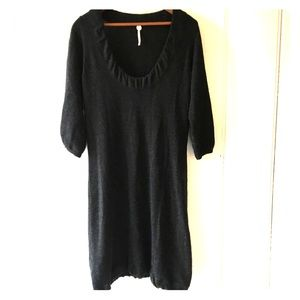 Dresses & Skirts - Margaret O'Leary charcoal gray cashmere dress.
